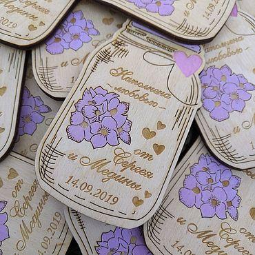Свадебный салон ручной работы. Ярмарка Мастеров - ручная работа Подарки гостям: магниты. Handmade.