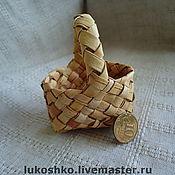 Куклы и игрушки ручной работы. Ярмарка Мастеров - ручная работа корзинка из бересты. Handmade.