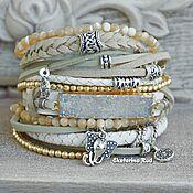 handmade. Livemaster - original item BOHO-chic bracelet with quartz