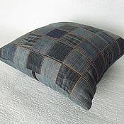 Для дома и интерьера ручной работы. Ярмарка Мастеров - ручная работа Подушка джинсовая.. Handmade.