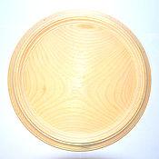 Материалы для творчества handmade. Livemaster - original item Plate for painting 27 cm. Siberian Cedar Blank for painting T4. Handmade.