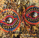 Парные мотивы `Глаза Будды` для танца tribal