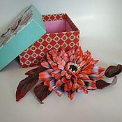 Украшения handmade. Livemaster - original item Brooch-pin: Gerbera Jacqueline brooch. Handmade.