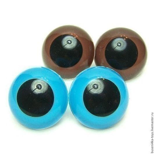 """Куклы и игрушки ручной работы. Ярмарка Мастеров - ручная работа. Купить 30мм Глаза для игрушек (голубые) 2шт. """"6908"""". Handmade."""