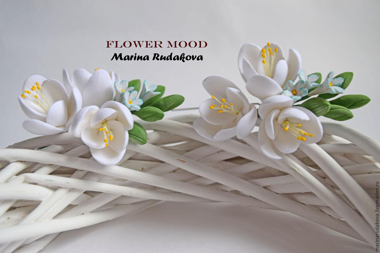 Цветы в прическу фрезия