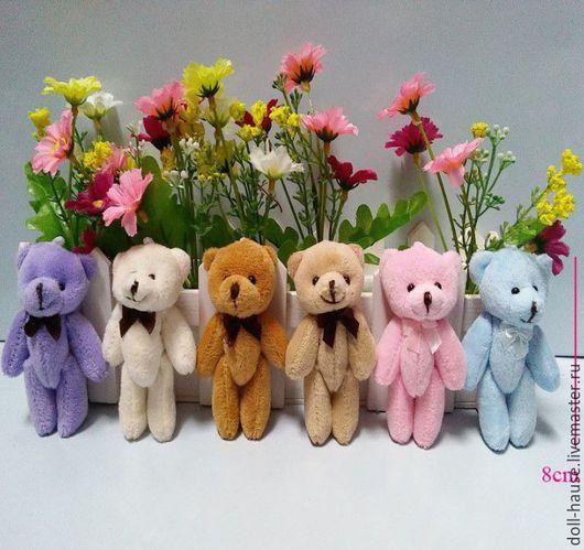 Куклы и игрушки ручной работы. Ярмарка Мастеров - ручная работа. Купить Мишки для кукол или букетов, 8 см, 6 цветов в ассортименте.. Handmade.