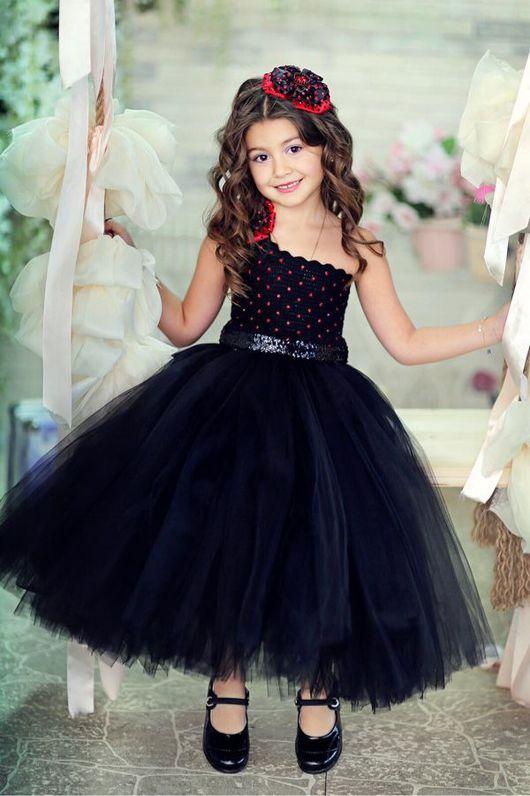 """Одежда для девочек, ручной работы. Ярмарка Мастеров - ручная работа. Купить Авторское платье ручной работы """"Black"""". Handmade."""