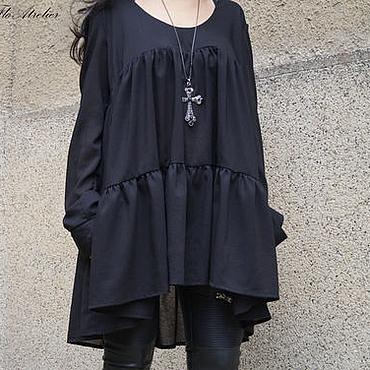 Одежда ручной работы. Ярмарка Мастеров - ручная работа Женская рубашка с длинными рукавами/F1511. Handmade.
