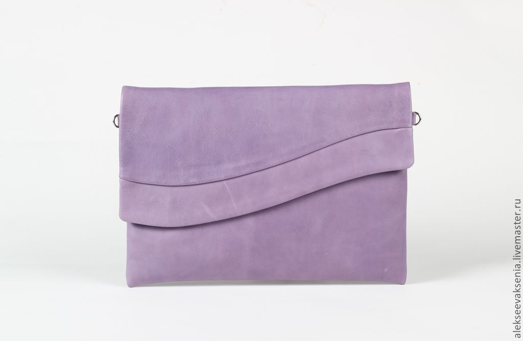 Bag genuine leather 'lilac', Clutches, St. Petersburg,  Фото №1