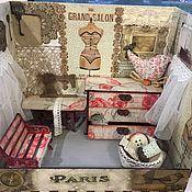 """Куклы и игрушки ручной работы. Ярмарка Мастеров - ручная работа Комната - Кукольный швейный """"GRAND SALON 372. Париж"""". Handmade."""