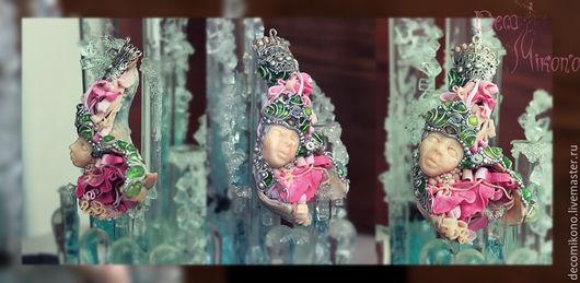 """Кулоны, подвески ручной работы. Ярмарка Мастеров - ручная работа. Купить Подвеска """"Сирена"""". Handmade. Розовый, авторская ручная работа"""