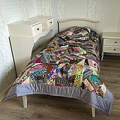 """Для дома и интерьера ручной работы. Ярмарка Мастеров - ручная работа Одеяло """"Безумный лоскуток"""". Handmade."""