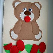 Куклы и игрушки ручной работы. Ярмарка Мастеров - ручная работа Карточка Гласные звуки в фигурах. Handmade.
