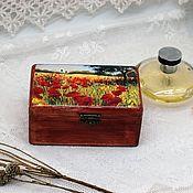 Для дома и интерьера handmade. Livemaster - original item Box poppy field in summer. Handmade.