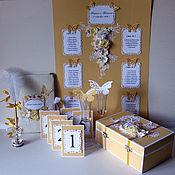 Свадебный салон ручной работы. Ярмарка Мастеров - ручная работа Набор аксессуаров в золотистой гамме. Handmade.