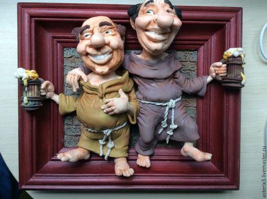 Коллекционные куклы ручной работы. Ярмарка Мастеров - ручная работа. Купить Куклы из полимерной глины.Монахи. Handmade. Коричневый, подарок