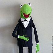 Куклы и игрушки ручной работы. Ярмарка Мастеров - ручная работа Кукла театральная тростевая лягушка Кернет Мапет шоу. Handmade.