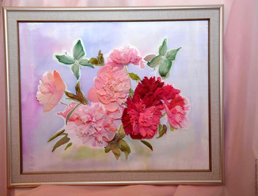 """Картины цветов ручной работы. Ярмарка Мастеров - ручная работа. Купить Картина  """"Пионы"""". Handmade. Розовый, картина с пионами"""