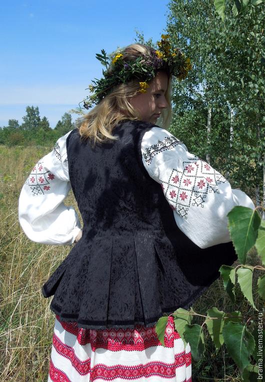 Одежда ручной работы. Ярмарка Мастеров - ручная работа. Купить Карсетка черная. Handmade. Черный, ткань хб жаккард