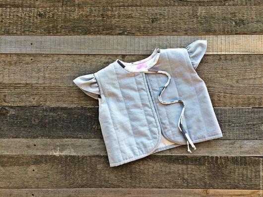 """Одежда для девочек, ручной работы. Ярмарка Мастеров - ручная работа. Купить Детский жилет """"Звездочка"""". Handmade. Серый, для фотосессии"""