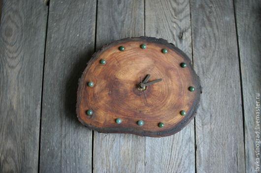 Часы для дома ручной работы. Ярмарка Мастеров - ручная работа. Купить Шоколад. Handmade. Коричневый, часы из каштана, дерево каштан