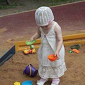 Работы для детей, ручной работы. Ярмарка Мастеров - ручная работа вязаное платье крючком. Handmade.