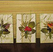 """Открытки ручной работы. Ярмарка Мастеров - ручная работа Открытка-картинка """"Букетик цветов"""". Handmade."""