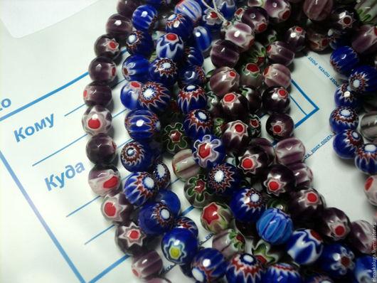 Для украшений ручной работы. Ярмарка Мастеров - ручная работа. Купить Муранское стекло-цветы (3 цвета). Handmade. Комбинированный