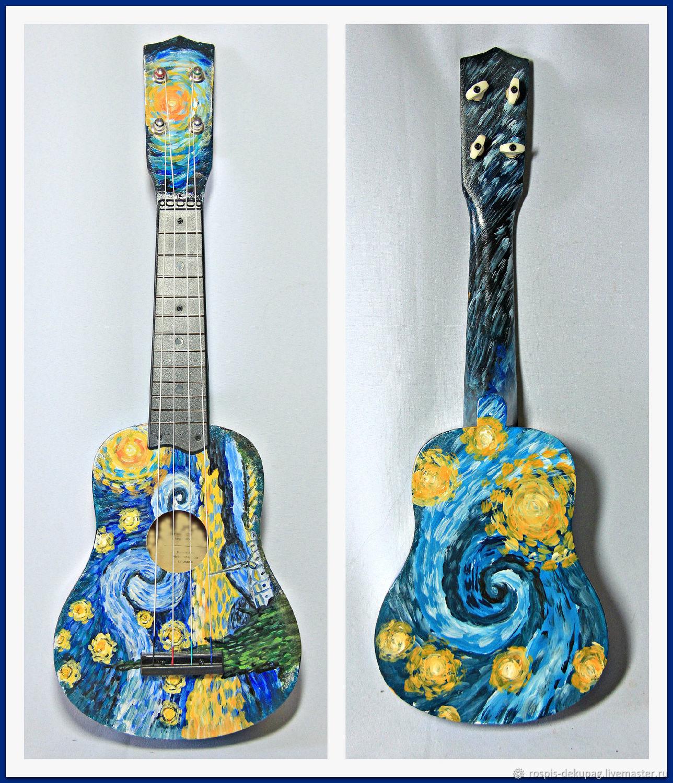 """Укулеле(сопрано)""""Звездное небо""""-гавайская гитараручная ..."""