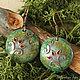 """Серьги ручной работы. Ярмарка Мастеров - ручная работа. Купить Серьги """"Цветок папоротника"""". Handmade. Зеленый, стекло, серьги с цветами"""