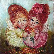 """Картины ручной работы. Ярмарка Мастеров - ручная работа Очаровашки (из серии """"Ангелочки""""). Handmade."""