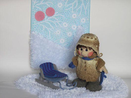 Коллекционные куклы ручной работы. Ярмарка Мастеров - ручная работа. Купить Кукла Снегири. Handmade. Текстильная кукла, кукла, голубой
