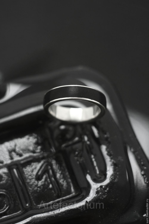"""Кольцо с чёрным грабом """"Полночь"""", Кольца, Москва, Фото №1"""