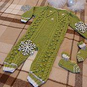 """Работы для детей, ручной работы. Ярмарка Мастеров - ручная работа Комбинезон для малыша """"Зима"""". Handmade."""