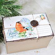 Подарки к праздникам handmade. Livemaster - original item Box for a gift.The parcel from Santa Claus. Handmade.