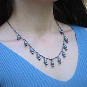 Украшения handmade. Livemaster - original item Garnet necklace made of 925 sterling silver with hand-minted VA0005. Handmade.