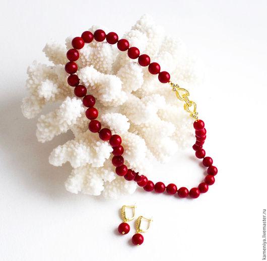 Колье, бусы ручной работы. Ярмарка Мастеров - ручная работа. Купить Бусы из красного коралла МАЛЕНЬКАЯ МЕЧТА. Handmade.