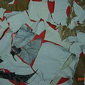 Материалы для творчества ручной работы. Ярмарка Мастеров - ручная работа набор кожи белой №2. Handmade.