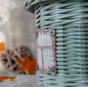 """Корзины ручной работы. Ярмарка Мастеров - ручная работа Шкатулка плетеная """" Домик"""". Handmade."""