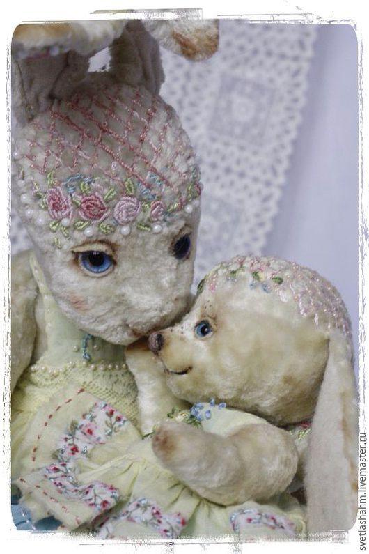 Мишки Тедди ручной работы. Ярмарка Мастеров - ручная работа. Купить Мама и доча! Два лучика солнца. Handmade. Лимонный