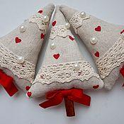 Подарки к праздникам ручной работы. Ярмарка Мастеров - ручная работа Елочка из льна. Handmade.