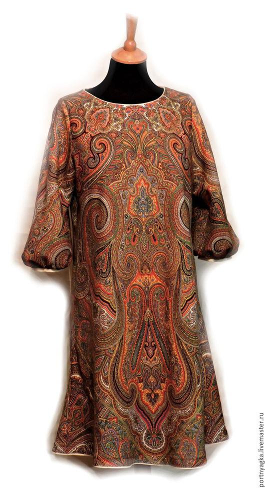 Платья ручной работы. Ярмарка Мастеров - ручная работа. Купить Платье Драгоценная Рыжая(из ППП). Handmade. Рыжий, русский стиль