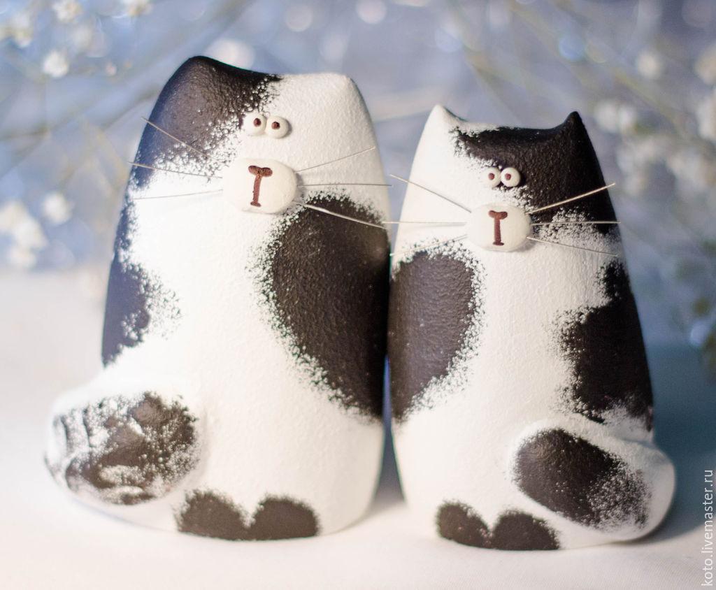 Фигурка кот и кошка