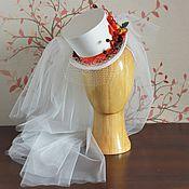 Свадебный салон ручной работы. Ярмарка Мастеров - ручная работа Свадебный мини-цилиндр к осенней свадьбе.. Handmade.