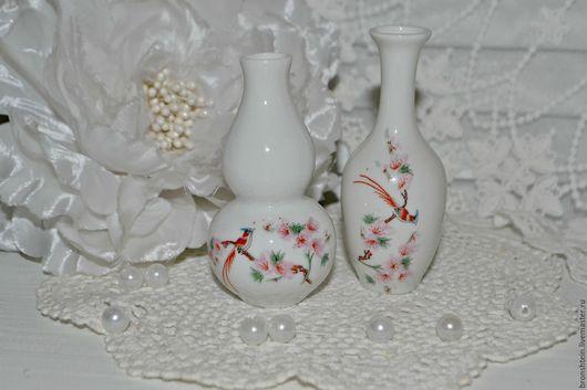 Материалы для флористики ручной работы. Ярмарка Мастеров - ручная работа. Купить набор маленьких китайских ваз миниатюра. Handmade. Белый