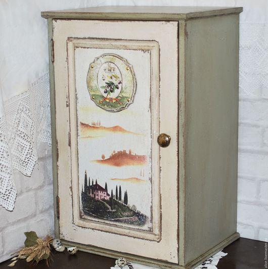 Мебель ручной работы. Ярмарка Мастеров - ручная работа. Купить ТОСКАНА шкаф для кухни. Handmade. Оливковый, кухня кантри, италия