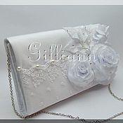 Свадебный салон ручной работы. Ярмарка Мастеров - ручная работа Свадебная сумочка клатч «Карлин»- белая. Handmade.