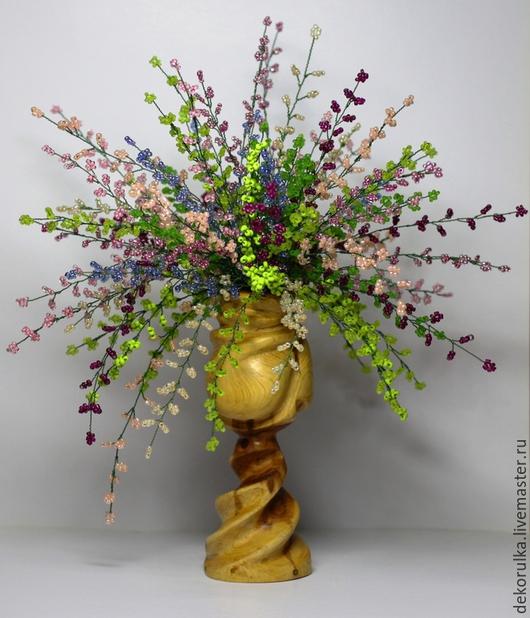 Искусственные растения ручной работы. Ярмарка Мастеров - ручная работа. Купить Вереск из бисера № 3. Handmade. Разноцветный