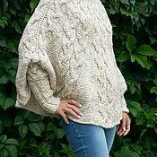 Одежда ручной работы. Ярмарка Мастеров - ручная работа Пончо вязаное. Handmade.