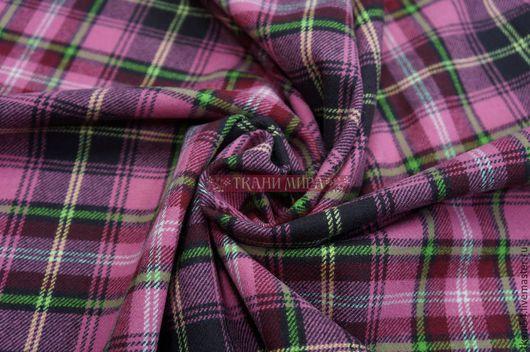 Шитье ручной работы. Ярмарка Мастеров - ручная работа. Купить Ткань кост. шотландка шерсть, 150 см, розовый. Handmade.